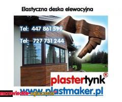 Imitacja drewna - Elastyczna deska dekoracyjna PlasterTynk